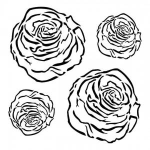 Rose Drawing Stencil