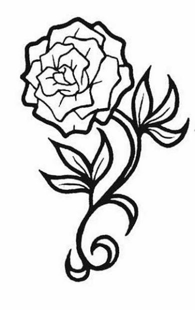 390x620 Rose Prints Stencils For Tattoos Ideas And Designs