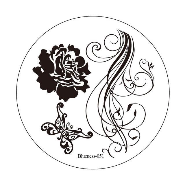640x640 Online Shop Blueness Stamping Rose Designs Nail Art Templates