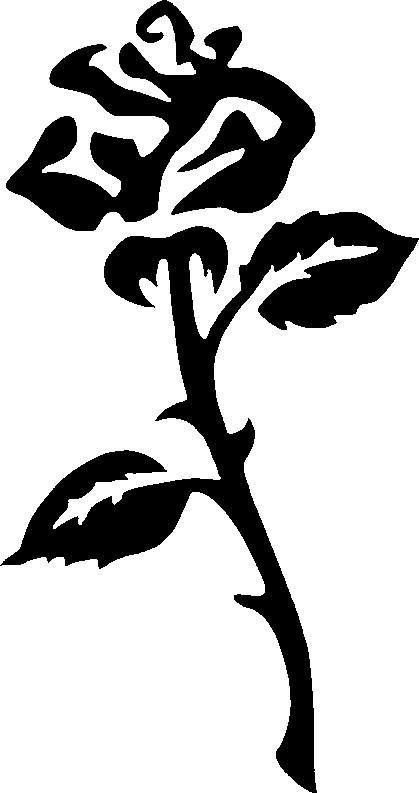419x793 Open Rose, Glitter Stencil Magicbox Facepaints