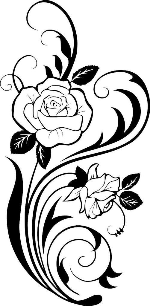 501x1024 Roses Vinyl Decal