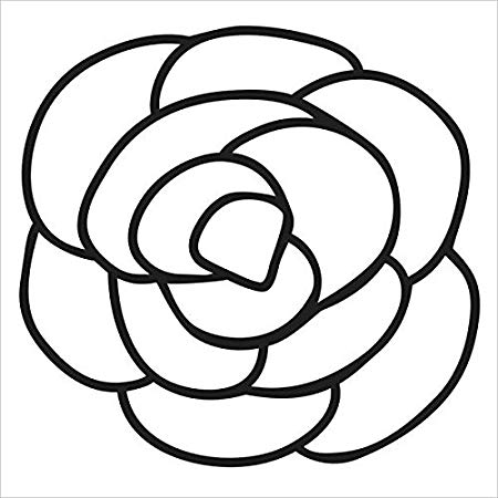 450x450 The Crafter's Workshop Stencil X Inch Rose Bits, Black White