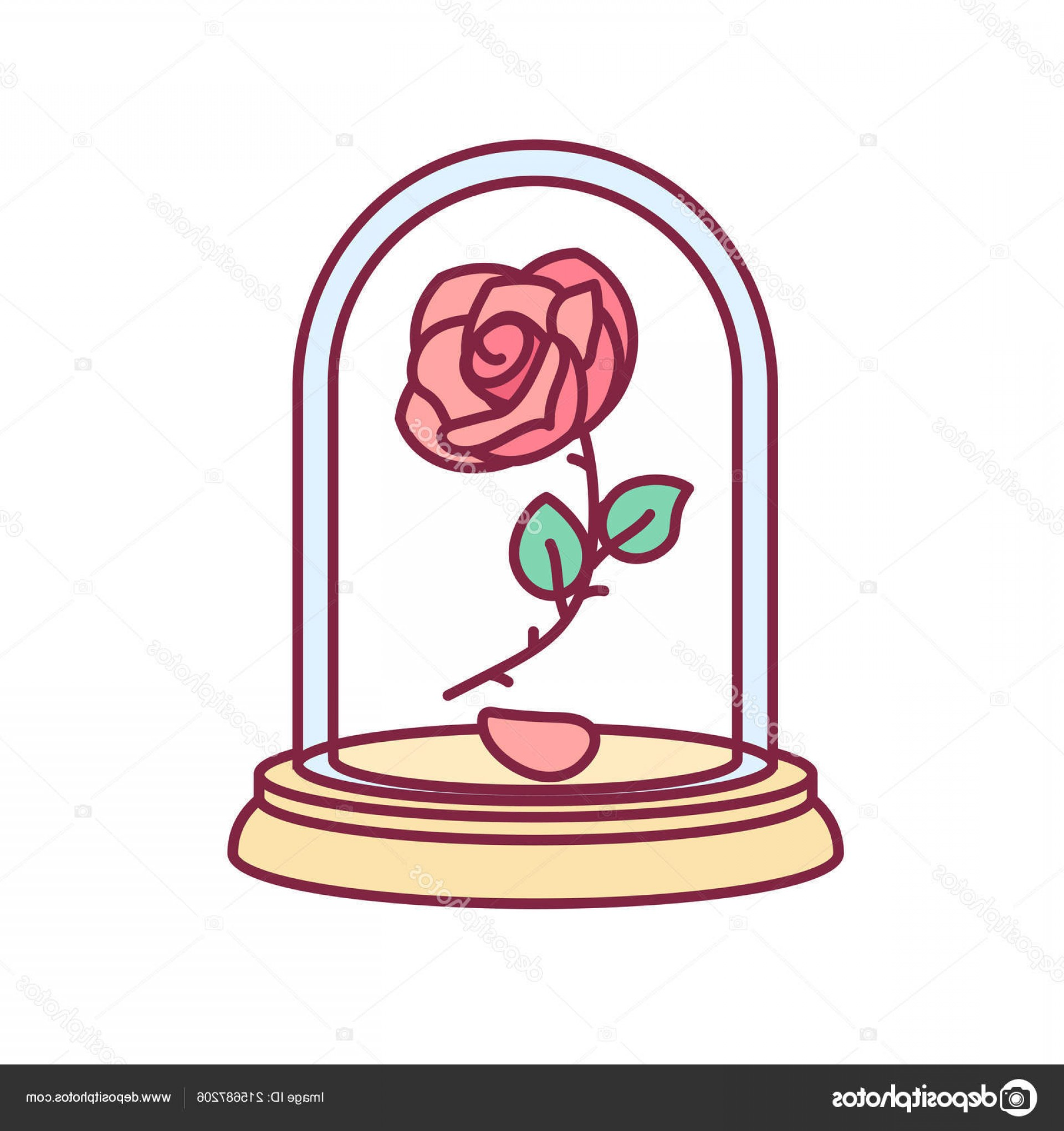 1920x2040 Rose From Beauty And The Beast Drawing In Glass Easy Iydunetwork