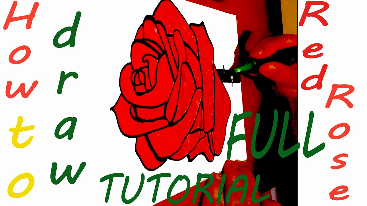 1280x720 Drawing Tutorial Full How To Draw A Rose Step