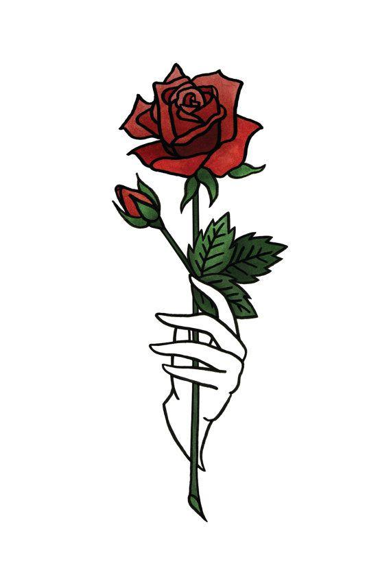 570x848 Rose Print In Blue Or Red Me Em Drawings, Rose