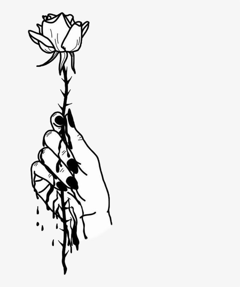820x980 Tumblr Arm Arms Rose Roses Flower Flowers Blackandwhite