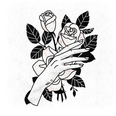 400x400 Traditional Rose Tattoo Flash Tumblr