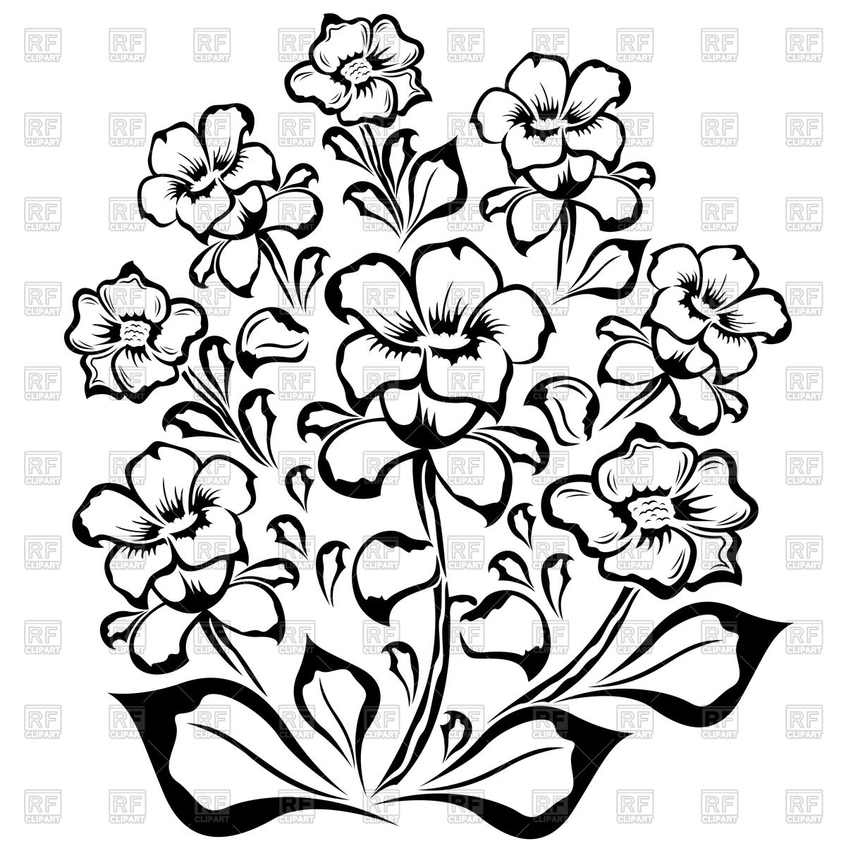 1200x1200 Bouquet Of Flowers Drawing Colored Line Tumblr Tattoo Images