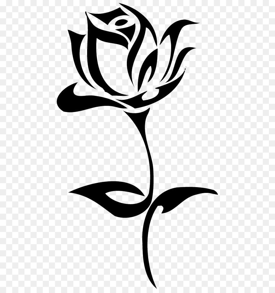 900x960 Rose Flower Png Black And White Free Rose Flower Black And White
