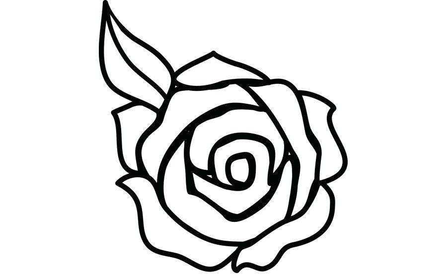 900x560 Flower Outline Drawings