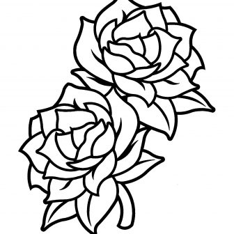 336x336 Black And White Drawing Of A Rose Flowers Tattoo Step Pencil Skull