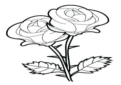 476x333 Beauty And The Beast Rose Coloring Pages E Time Outline How