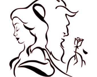 340x270 Beauty And The Beast Silhouette