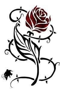 200x300 Beauty And The Beast Rose Clipart