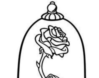 340x270 Enchanted Rose Silhouette