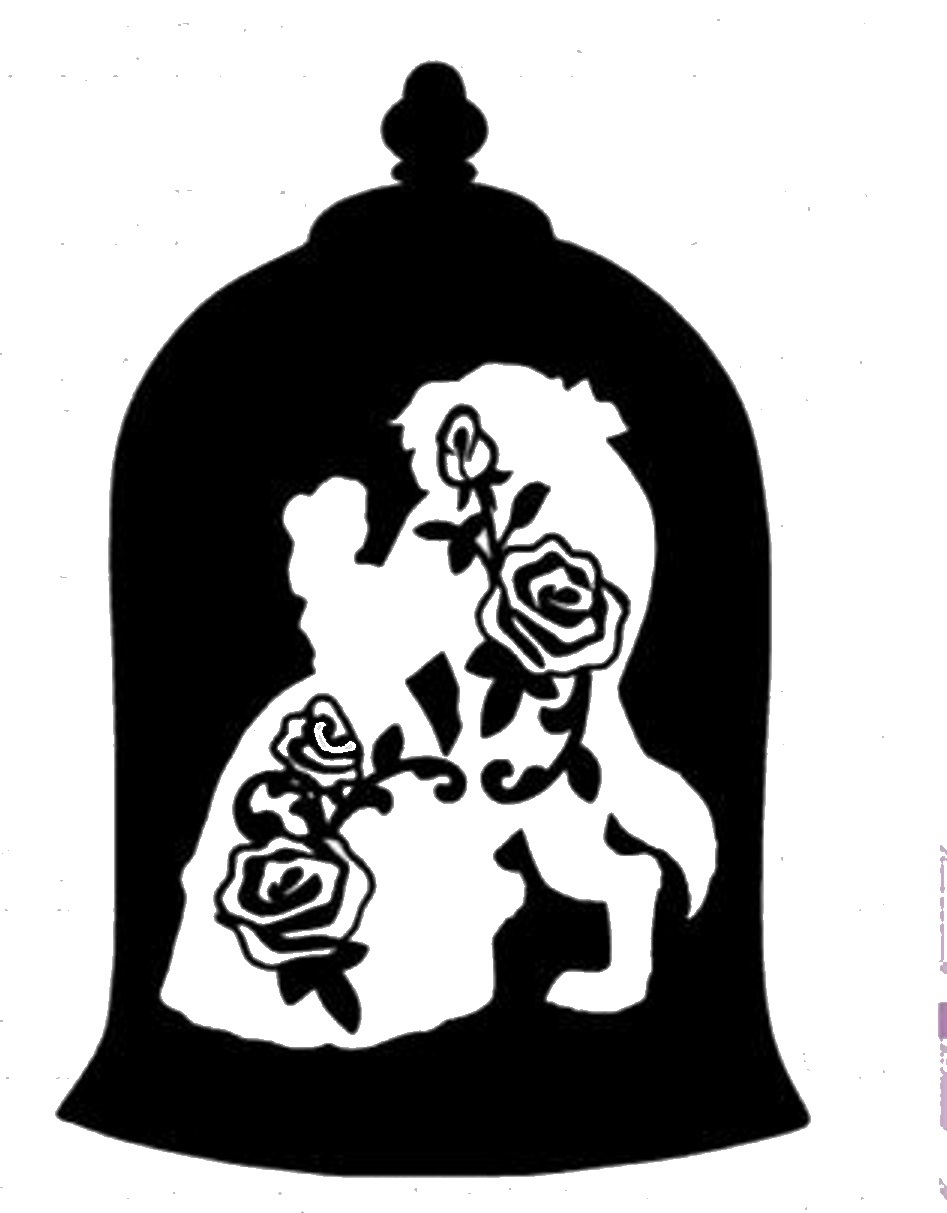947x1213 Rose From Beauty And The Beast Drawing Glass In Line Simple How