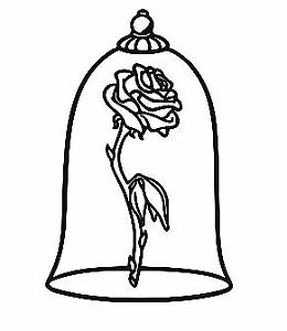 260x300 Beauty And The Beast Rose Belle Disney Vinyl Decal Sticker Laptop