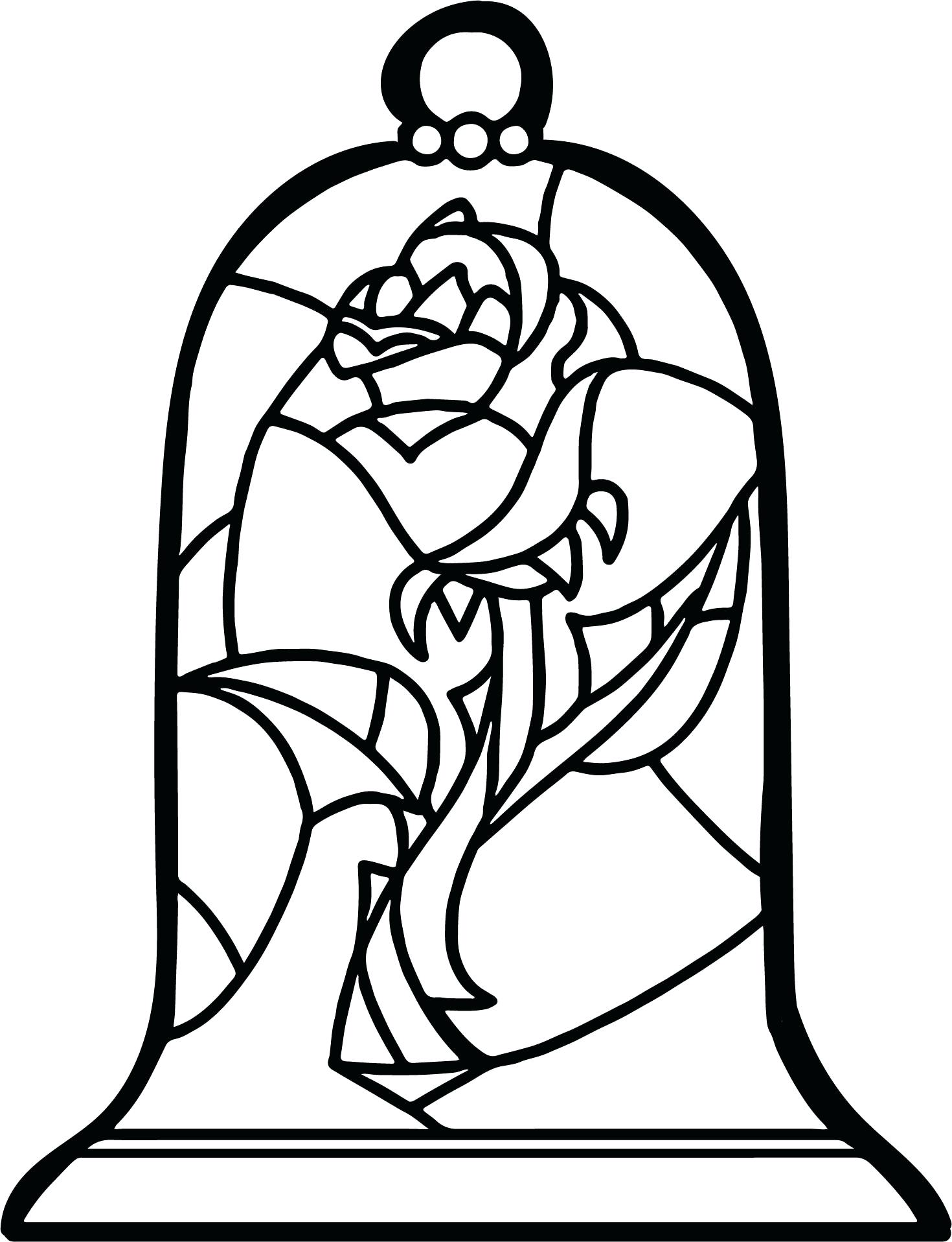 1470x1916 Beauty And The Beast Coloring Pages