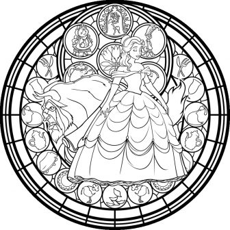 336x336 Beauty And The Beast Drawing Of Rose Line Tattoo Step Easy