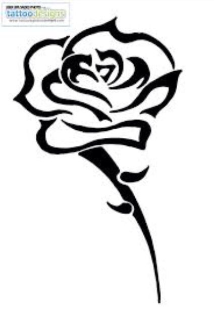 424x620 Different I Only Like The Rose Head Though Ttoo Amppcng Tribal