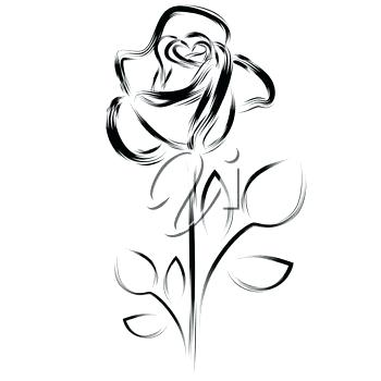 350x350 A Simple Rose Drawing Simple Rose Outline Tattoo Designs Drawing