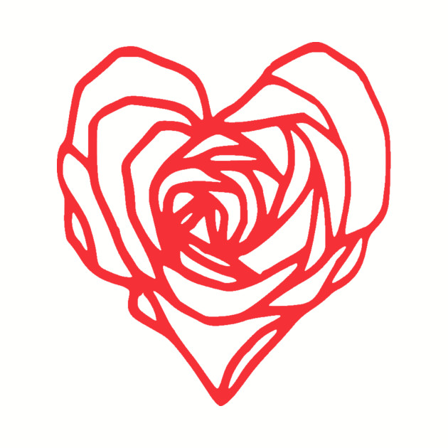 Rose Heart Drawing | Free download on ClipArtMag