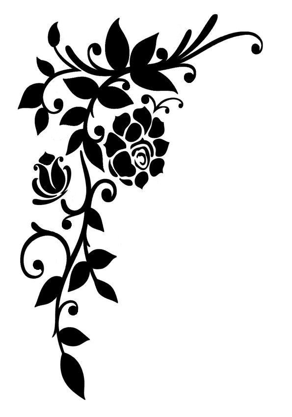 595x850 vintage stencil shabby chic rose corner flourish rustic mylar