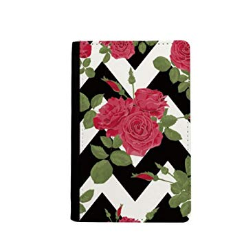 355x355 Red Rose Drawing Art Plant Passport Holder Travel Wallet Cover