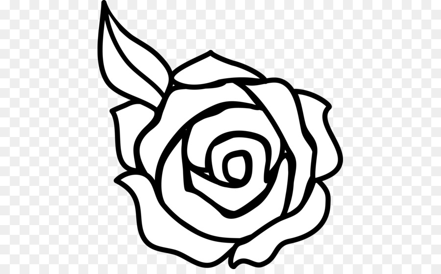 900x560 Rose Outline Drawing C