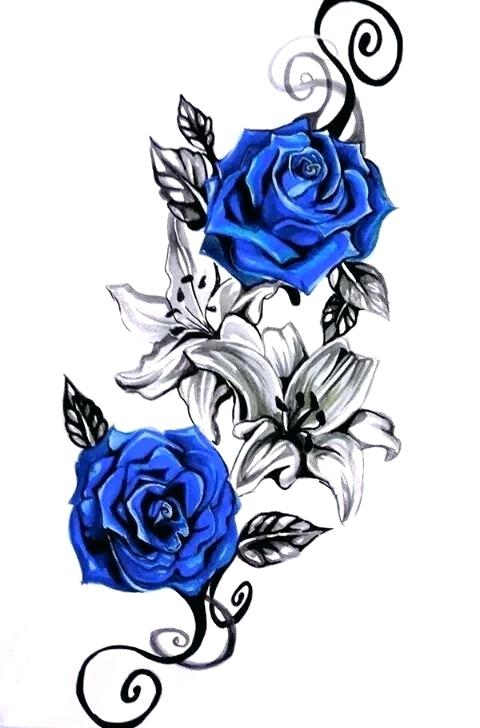 480x728 blue rose drawing blue roses more all blue rose tattoo designs