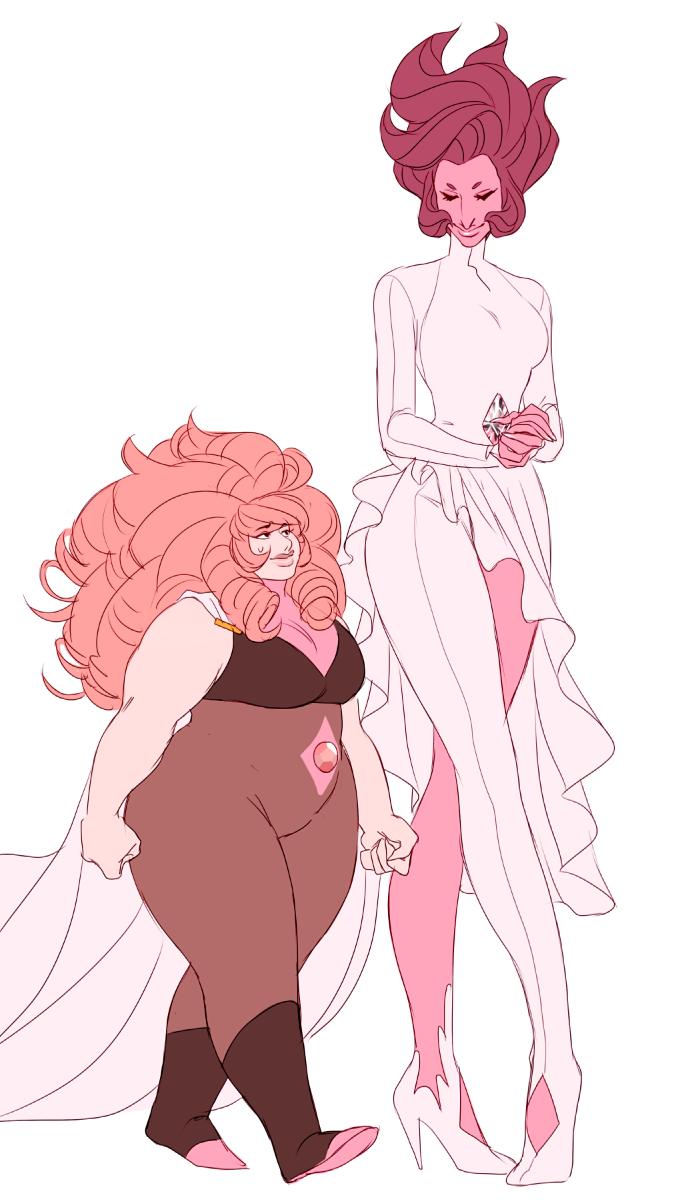 696x1202 rose quartz and pink diamond steven universe pink diamond