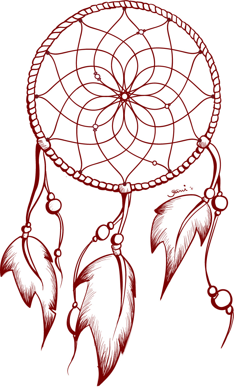 758x1252 Dream Catcher Drawings For Tattoos