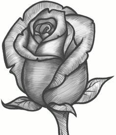 236x274 Easy Drawings Of Roses And Crosses Tatoo Art Rose Rose Tattoo