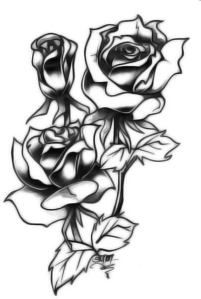 405x600 Rose Tattoo Designs