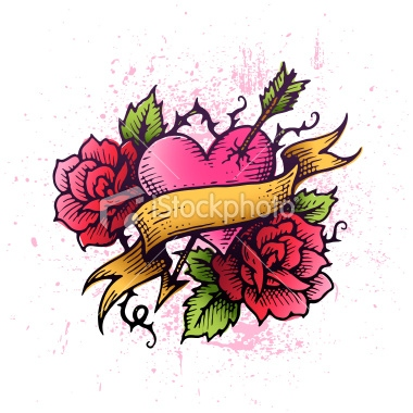380x380 rose tattoos designs, red rose, black rose, heart and rose tattoo