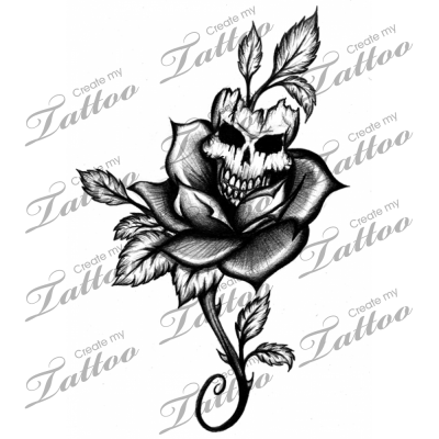 400x400 Skull And Rose Tattoos Designs Pictures And Cliparts, Download Free