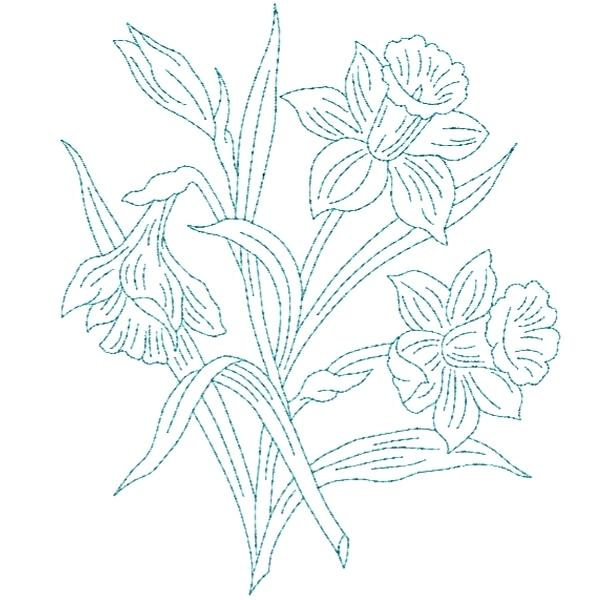 600x600 Two Blooming Lilies Flowers Vector Sketch Outline Rose Tattoo