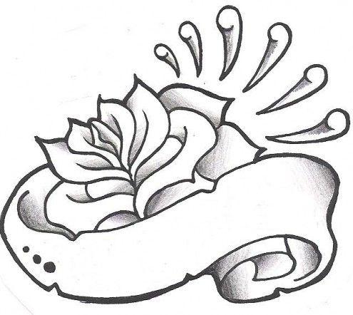 495x442 Black And White Rose Tattoo Design Tattoo Design Stuff