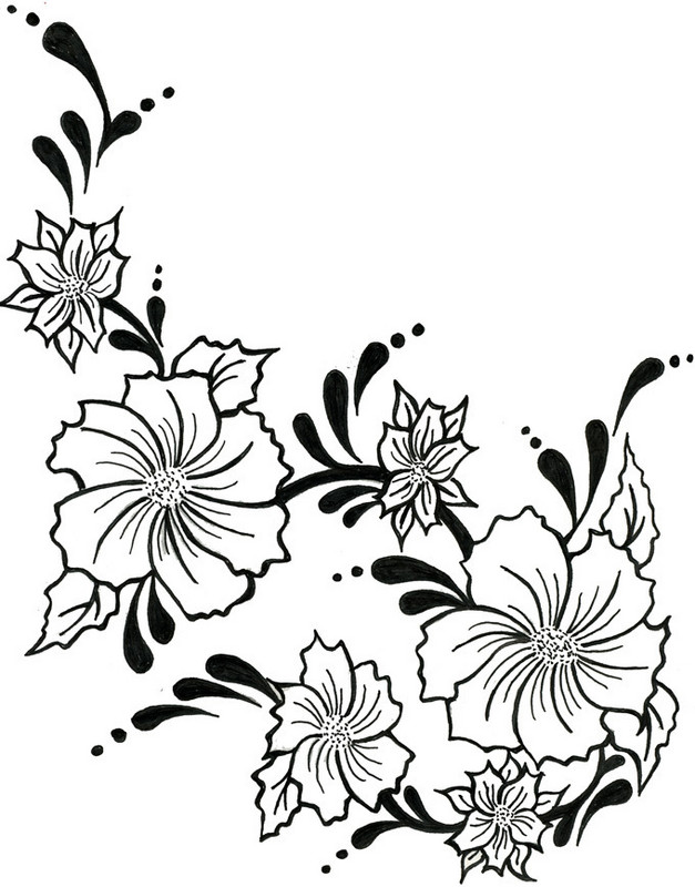 Rose Vine Drawing Designs Free Download Best Rose Vine Drawing