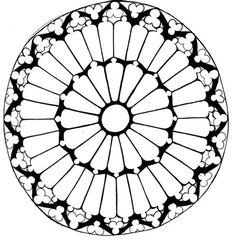 Rose Window Drawing