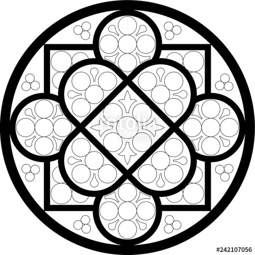 Rose Window Drawing | Free download on ClipArtMag