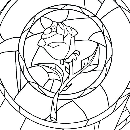 550x550 beauty and the beast rose coloring pages beauty and the beast