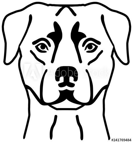 467x500 Rottweiler Head Silhouette Black