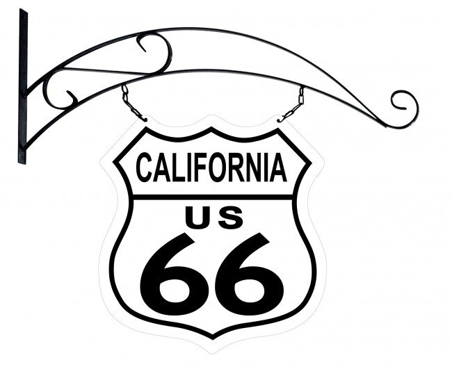 650x531 route california road sign double sided metal sign x