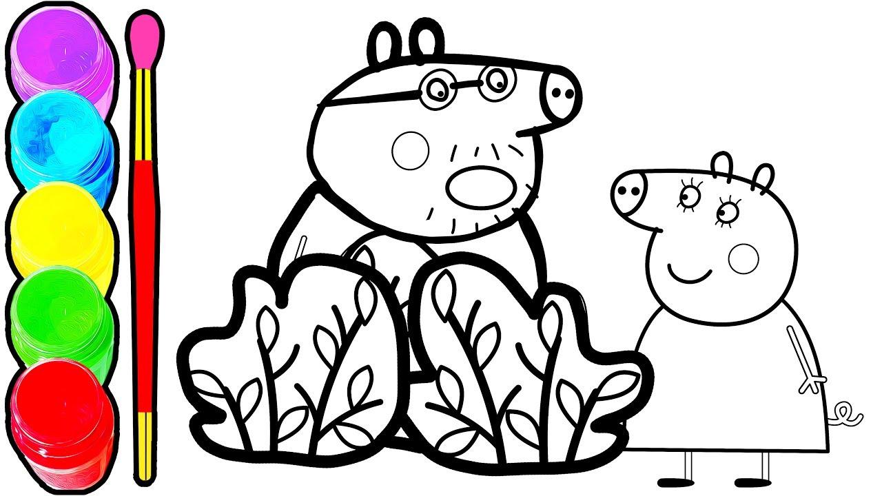 1280x720 row row row your boat nursery rhymes peppa pig coloring