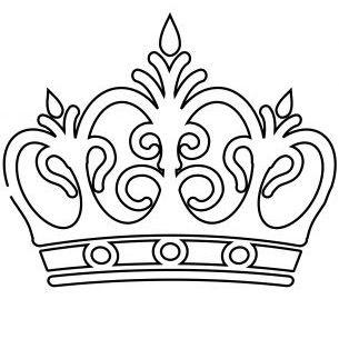 305x305 Crown Drawing, Crown Stencil, Crown Template