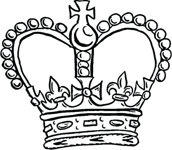 600x524 Queen Crown Coloring Kings Drawing Pictures King Crown Coloring
