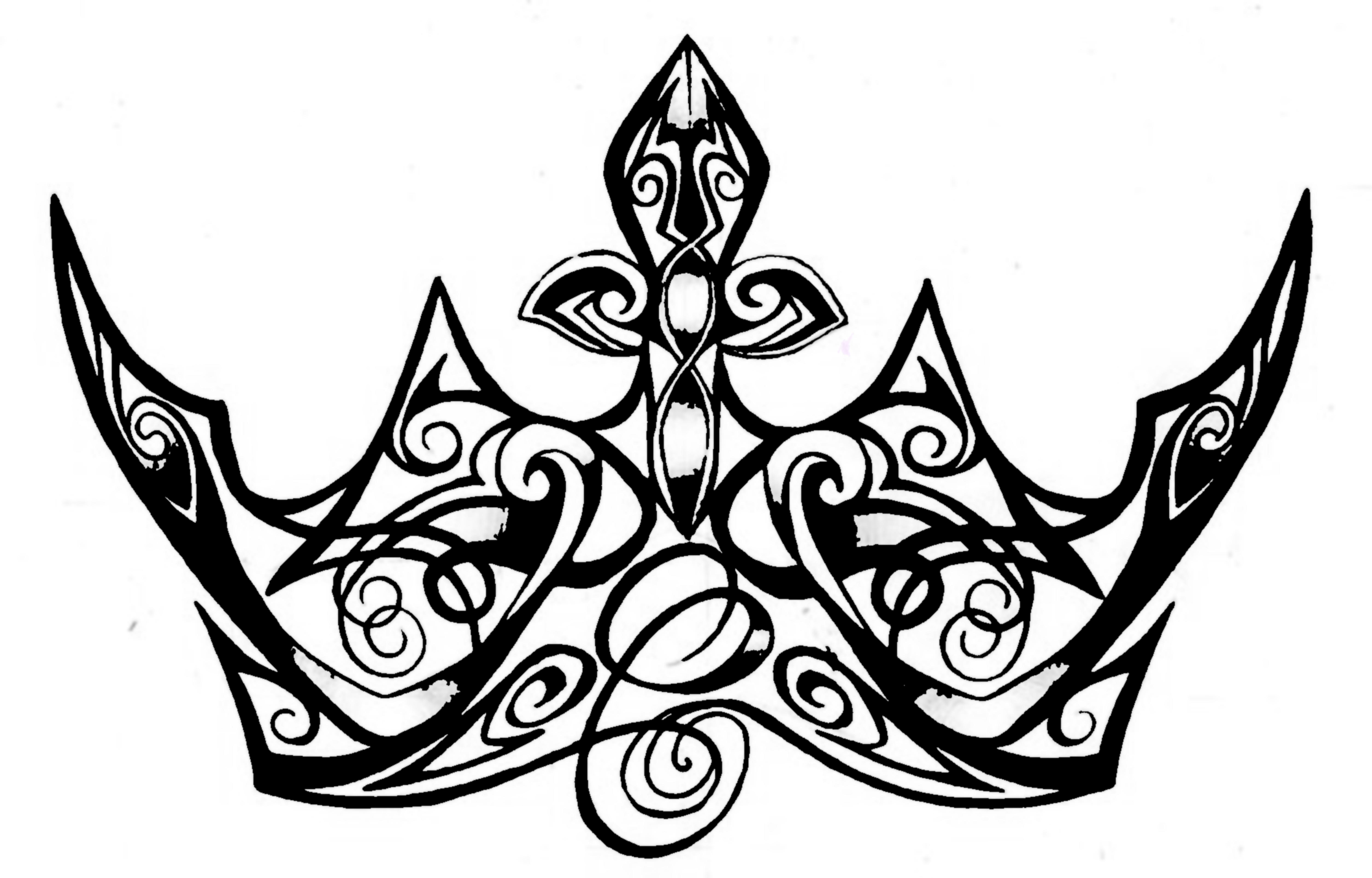 5955x3812 Queen Crown Drawing