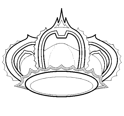 505x470 Royal Crown Coloring Page
