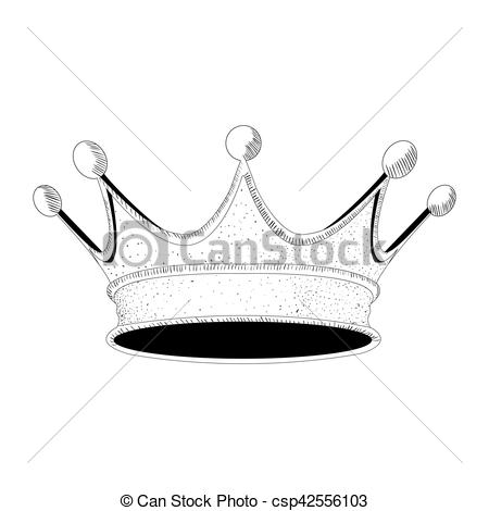 450x470 royal crown isolated hand drawn royal crown, vector illustration